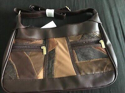 BN Leather & Pvc Brown Handbag From Moda Nova Size 12' Long X 8' Deep for sale  Shipping to Ireland