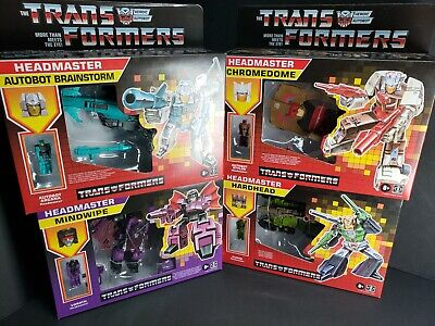 Transformers G1 Headmasters Retro Reissues Set of 4 Walmart Exclusive IN HAND