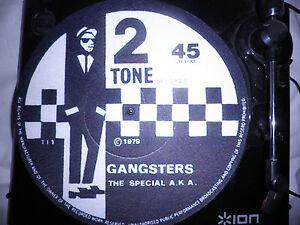 d j turntable slip mat two tone ska vinyl record 12