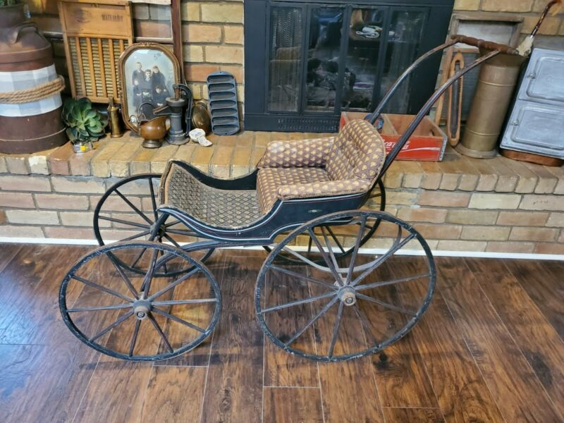 Late 1800s Victorian Toddler Baby Carriage Stroller
