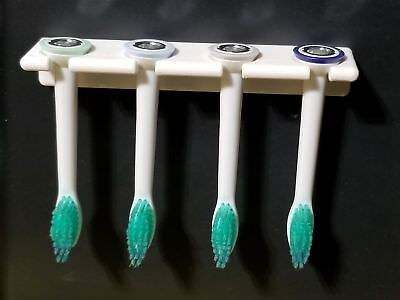 Inside Cabinet Door Mount for Toothbrush Head Sonicare & Others *4 Brush -