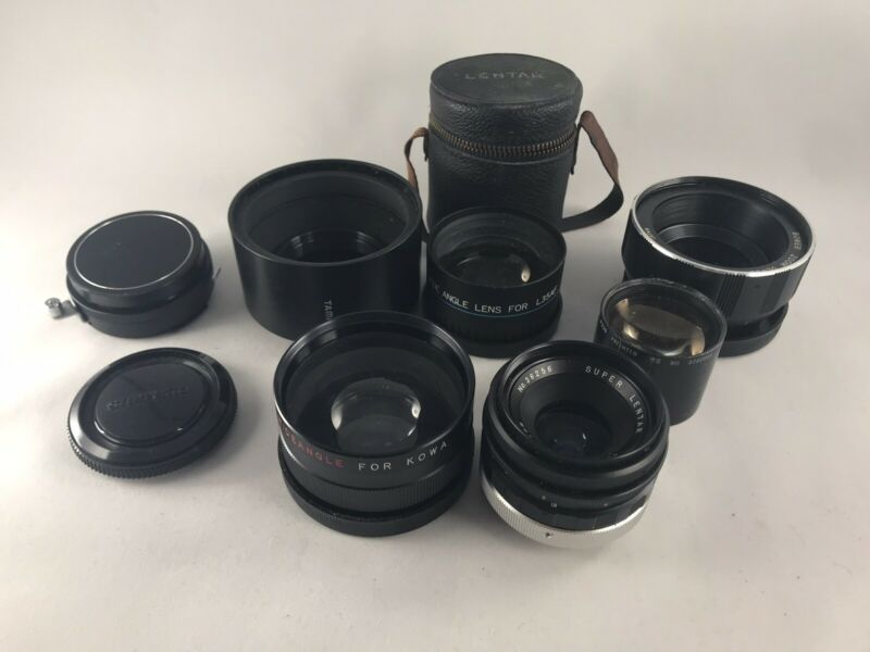 Vintage Camera Lens And Adapter Lot