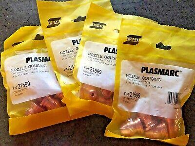 Qty20 New Esab Plasmarc 150 Amp Gouging Nozzle For Pt-25 Part 21599
