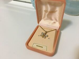Diamond and 24ct Gold Plated Butterfly Necklace Mosman Mosman Area Preview