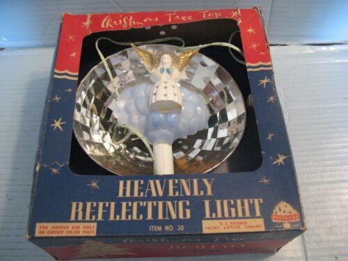 "Vtg Bradford Christmas Tree Topper ""Heavenly Reflecting Light"" In Original Box"