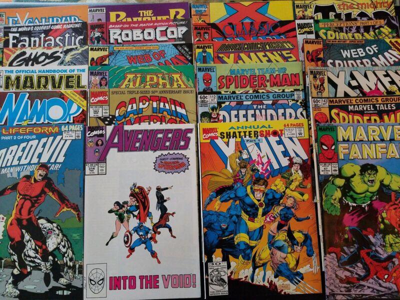 KIDS COMIC BOOK LOT! 15 MARVEL COMICS SPIDERMAN AVENGERS MUTANTS + more