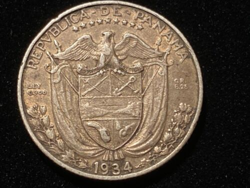 T2: Panama .900 Silver 1/4 Balboa. Only 90,000 minted
