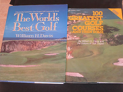 William H. Davis book Lot 100 Greatest Golf Courses And Then Some best  hB