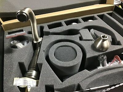 Graff Widespread Lavatory Faucet Steelnox ( Satin Nickel) Model GN-2500-LM15-SN
