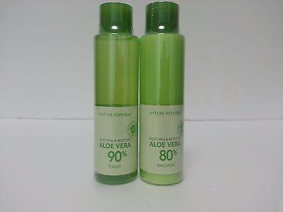 Korea Nature Republic Aloe Vera Soothing Moisture Emulsion Toner Face Skin Care