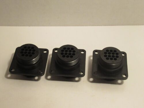 (LOT OF 3) AMP 206043-1 2060431 14 PIN CIRCULAR CONNECTOR NEW