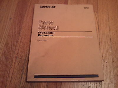 Caterpillar 816 Landfill Compactor Parts Manual