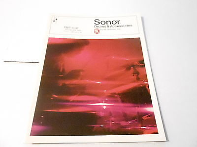 VINTAGE MUSICAL INSTRUMENT CATALOG #10201 -1960s SONOR DRUMS & ACCESSORIES