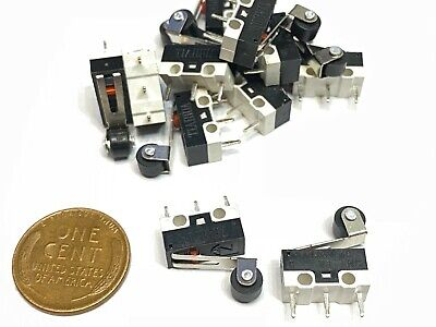 10 X Roller Limit Micro Switch Mini Small Kw10-z4p Momentary Spdt Nc No B12