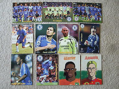 chelsea fc postcard team group russian issue yellow kit