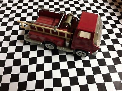 Vintage MARX Red Fire Truck 1960's Metal Toy