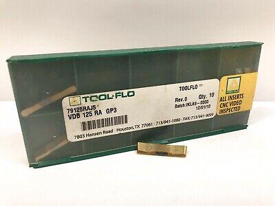 Tool-flo Vdb 125 Ra New Carbide Inserts Grade Gp3 3pcs
