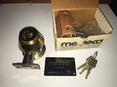 Medeco Maxum High Security Double Deadbolt Cylinder Lockresidential Commercial