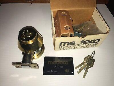Medeco Maxum High Security Double Deadbolt Cylinder Lockresidential Commercial