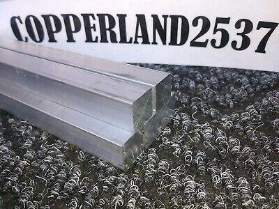 5 Pc .5x.5 X 8 Long New 6061 T6 Solid Aluminum Stock Plate Flat Bar Block 12