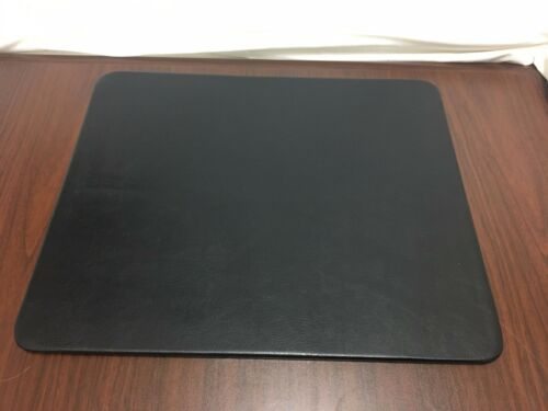 Black Genuine Leather Desk Pad, 17 x 14 Conference Pad (discontinued style)