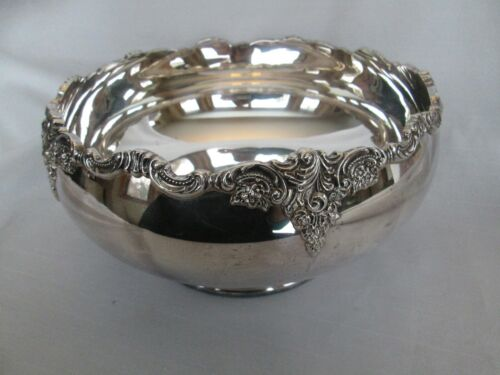 Wallace BAROQUE Silverplate Coupe Centerpiece Fruit Serving Bowl # 706