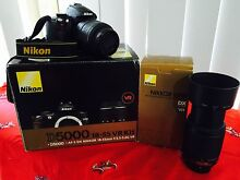 Digital SLR NIKON D5000 with VR Twin Lens KIt 18-55 and 55-200mm Leumeah Campbelltown Area Preview