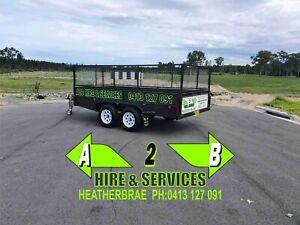12x6 caged box trailer hire