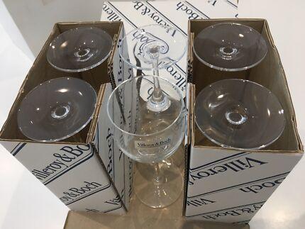 Villeroy & Boch wine glasses - 6 new in box