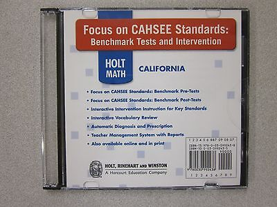 (Holt California Math Focus on CAHSEE Standards Tests Intervention CD 0030992435)