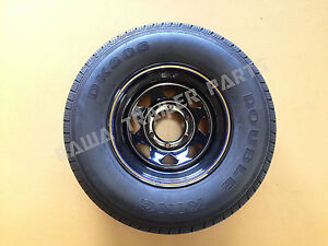 SUNRAYSIA-BLACK-15-6-STUD-LANDCRUISER-WITH-235R15-LT-TYRE-Trailer-Parts