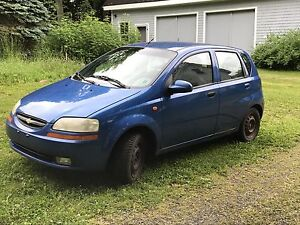 2004 Chevy Aveo   1200$ price reduced need gone in 7 days
