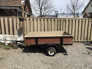 5Utility trailer with removable sides
