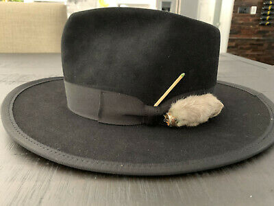 Black Nick Fouquet Hat Sz. 7 3/8~~L@@K~~