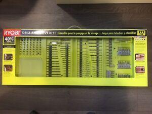 Ryobi Drill and Drive Kit 172 pieces BNIB