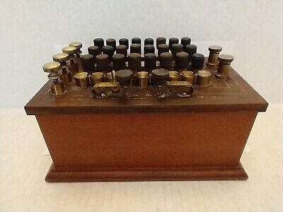 Leeds Northrup Vintage Brass Wood Resistance Decade Box W 24 Pins 17145