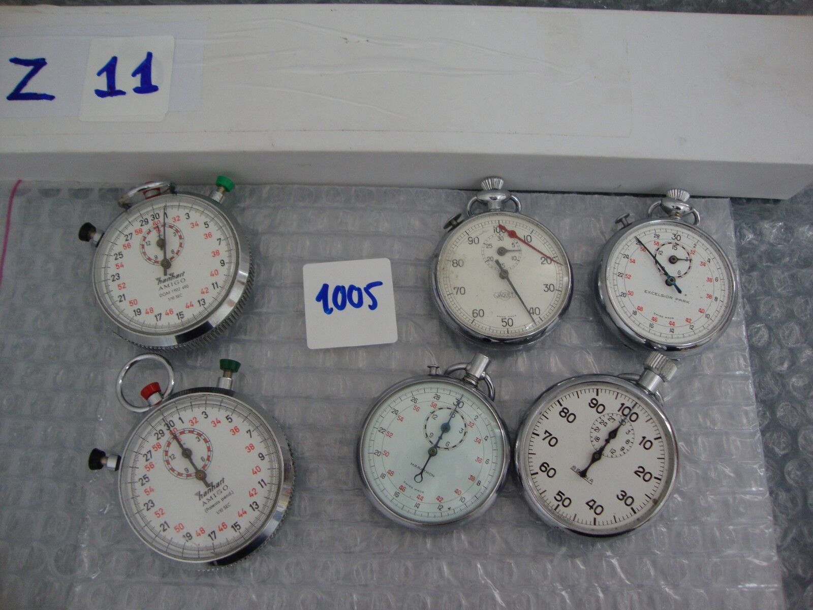 6 UNITS Vintage Hanhart  MARATHON  BERNA JAQUET EXCELSIOR PARK stopwatch PARTS