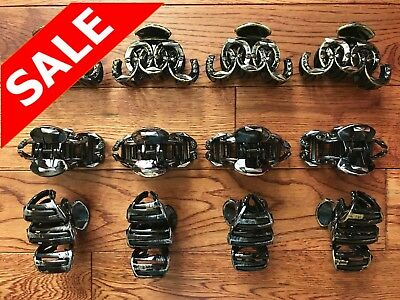 LOT OF 12 PACK  LARGE LADY WOMEN PLASTIC VINTAGE HAIR CLIPS