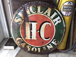 """1930's Sinclair porcelain sign. 48"""" single sided"""