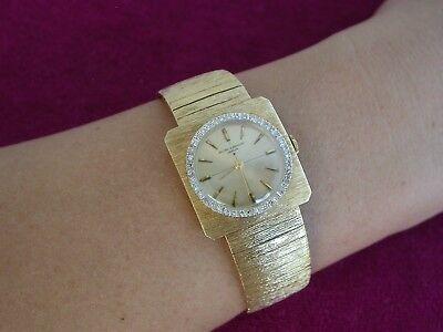 Vintage Baume & Mercier Classic 14K. Diamond Bezel Dress Watch   ..0854