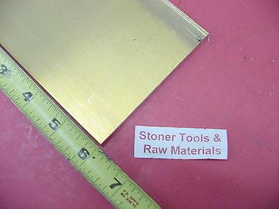 14 X 4 C360 Brass Flat Bar 6 Long Solid .250 Mill Stock H02