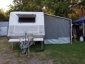 2013 Concept Belmont XL 18ft Family Caravan Triple Bunks, Annexe