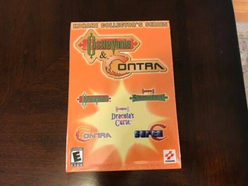 Konami Collectors PC CD-ROM Brand New Sealed Castlevania & Contra etc