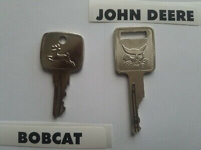 Heavy Equipment Key 2 Keys John Deere Ar51481 Bobcat Case Fast Free Shipping