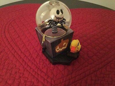 Rare Disney Nightmare Before Christmas Jack Skellington Halloween Mini SnowGlobe