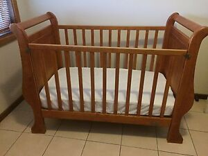 Timber cot & mattress Mount Ousley Wollongong Area Preview
