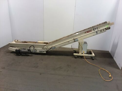 TEC Incline Part Chips Conveyor Cleated Variable Speed 110v 1PH