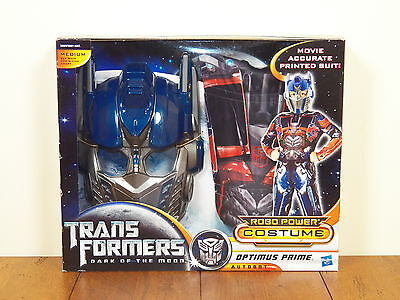 Transformers Optimus Prime Halloween Costume Dark Of The Moon Boys Medium *NEW* (Optimus Prime Transformer Halloween Costume)