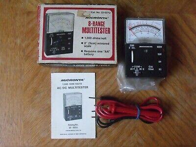 Vintage Radio Shack Tandy Micronta 22-027u 8-range Multitester Multimeter