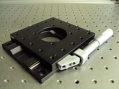 Nrc Newport Optosigma 40mm Ball Bearing Linear Slide Positioner Stage Platform